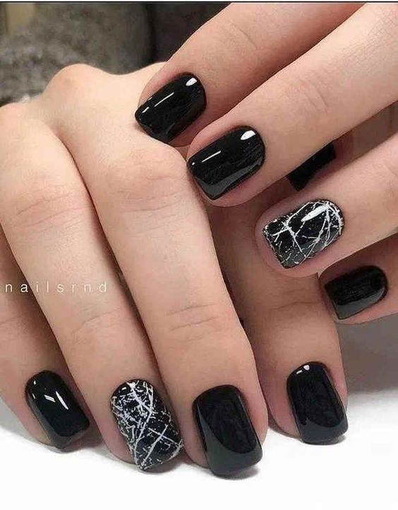 30 Stylish Black Nail Designs to Sport All-Year-Round 13