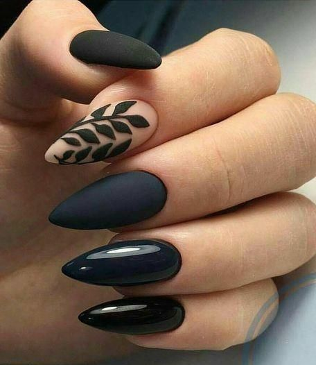 30 Stylish Black Nail Designs to Sport All-Year-Round 25