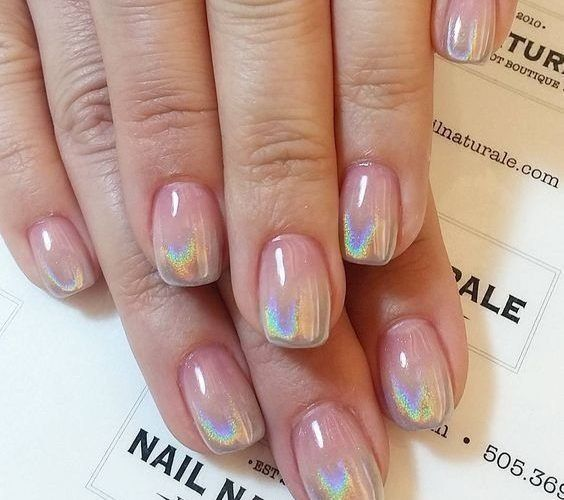 30 Ways to Spice Up Holographic Nails Look 7