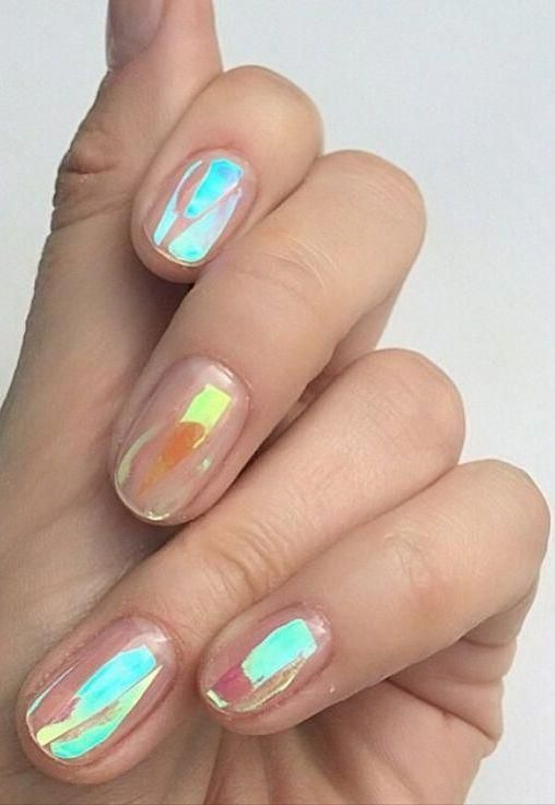 30 Ways to Spice Up Holographic Nails Look 10