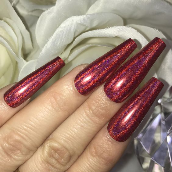 30 Ways to Spice Up Holographic Nails Look 15