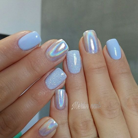 30 Ways to Spice Up Holographic Nails Look 18