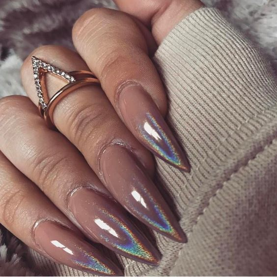 30 Ways to Spice Up Holographic Nails Look 21