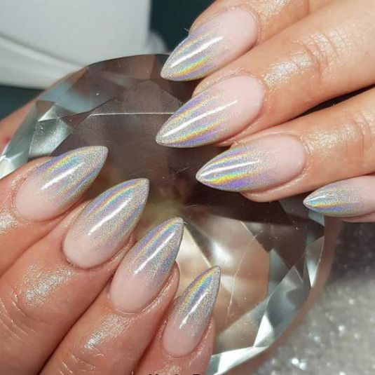 30 Ways to Spice Up Holographic Nails Look 22