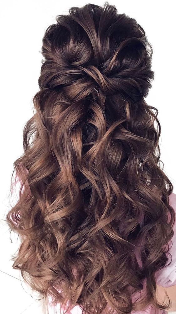 All time favorite half up A pull back and twisted half up hairstyle feels relaxed, glamorous, and arguably. It's the perfect look if you wish...