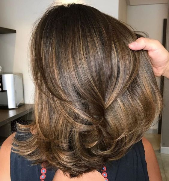 Medium Hairstyle with Layered Ends