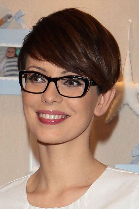 Women's Straight Pixie Cut Style Synthetic Hair Wigs Lace Front Cap Wigs 10inch#wig#short wig#fashion