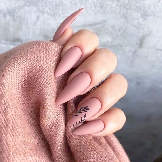 30 Beautiful Matte Nails for a Trendy Style 1
