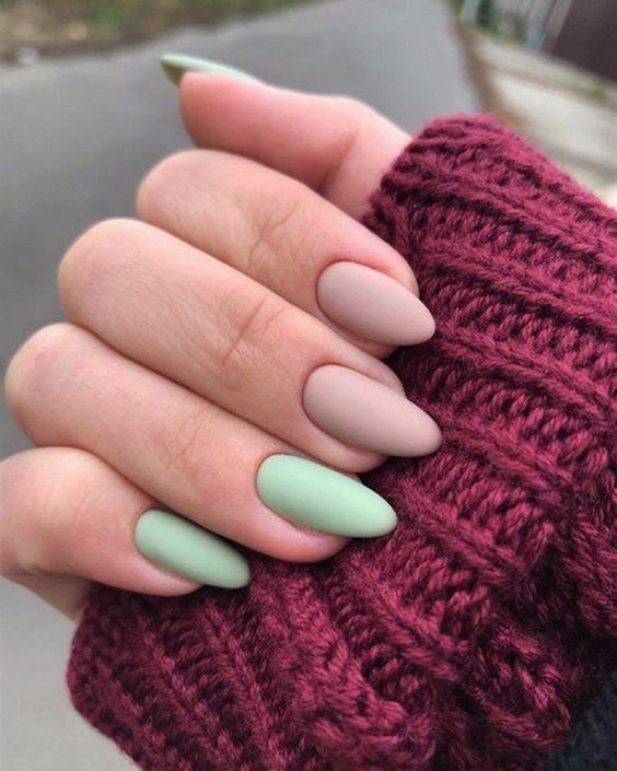 30 Beautiful Matte Nails for a Trendy Style 3
