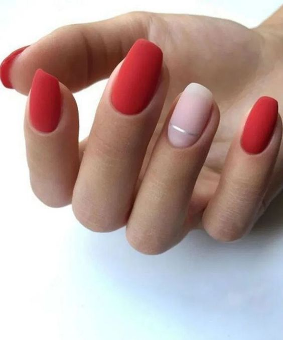 30 Beautiful Matte Nails for a Trendy Style 4