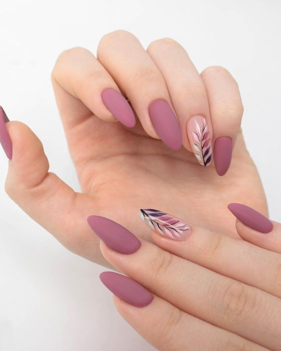 30 Beautiful Matte Nails for a Trendy Style 16