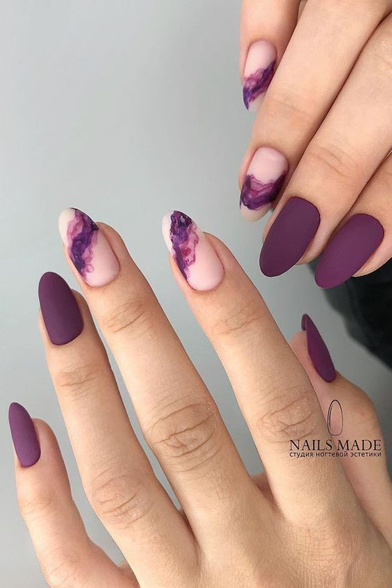 30 Beautiful Matte Nails for a Trendy Style 22