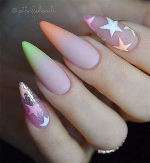 30 Amazing Stiletto Nail Designs for A Dramatic Look 3