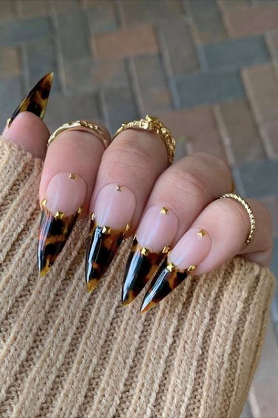 30 Amazing Stiletto Nail Designs for A Dramatic Look 24
