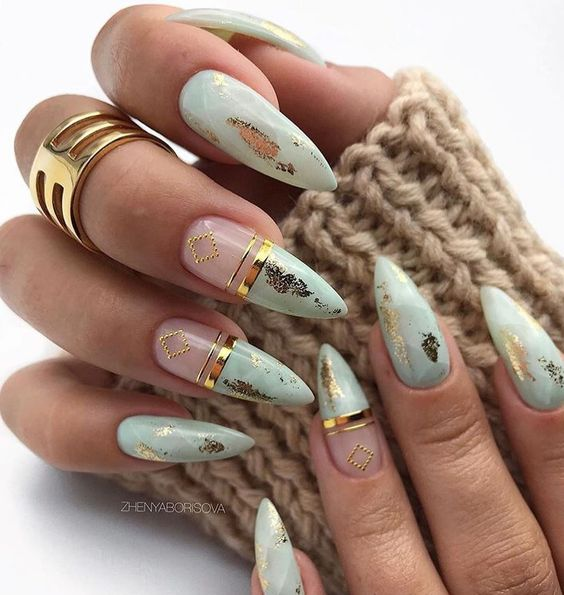 30 Amazing Stiletto Nail Designs for A Dramatic Look 30