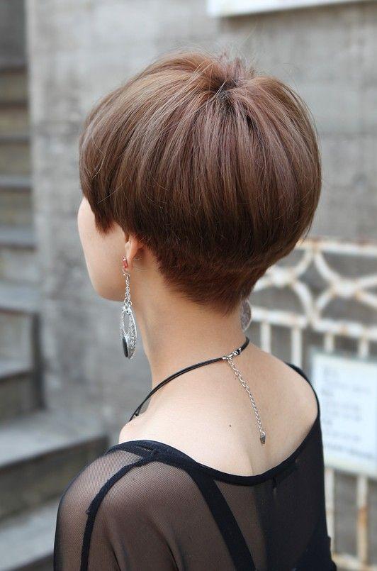 Short Wedge Hair Cuts Back   Back View of Cute Short Japanese Haircut - Back View of Bowl (Mushroom ...