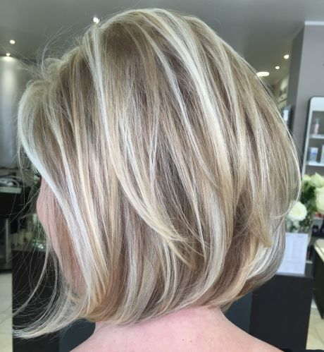 Dishwater Blonde Bob with Layers and Highlights