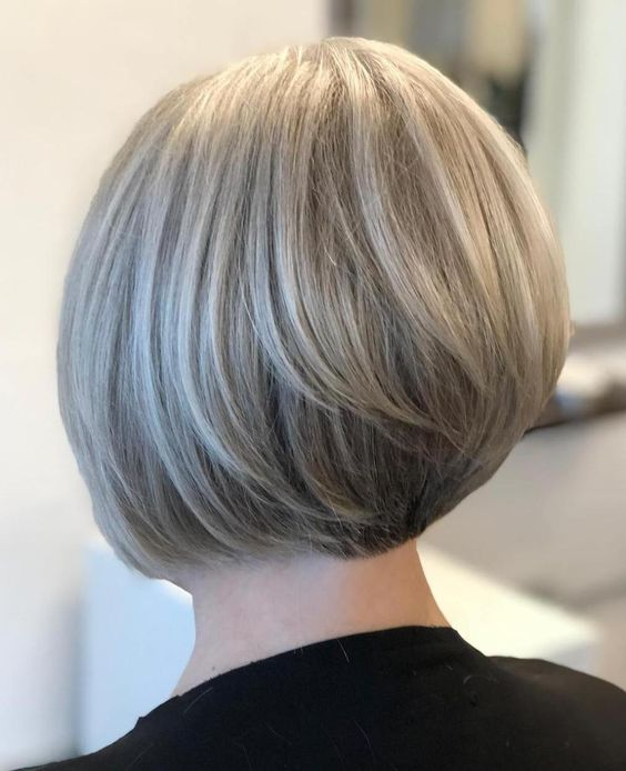 Rounded Jaw-Length Bob For Straight Hair