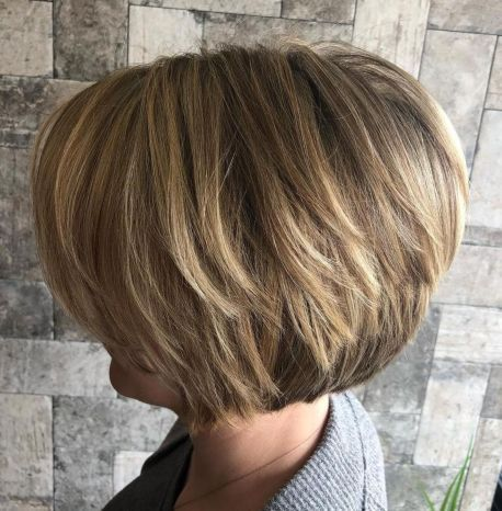 Short Stacked Bob Cut For Thick Hair