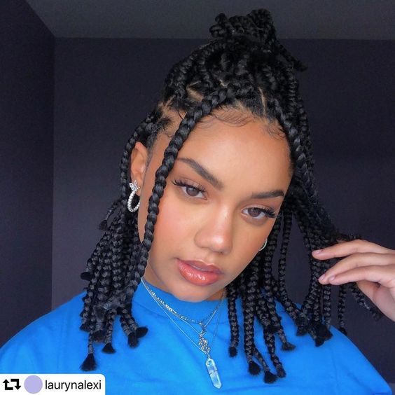 30 Awesome Black Braided Hairstyle for a Show-stopper Look 7